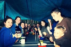 Палаточный лагерь на Березовом озере.